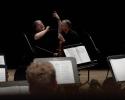 Andreas Spörri bei der Probenarbeit im KKL Luzern mit dem Wiener Opernball Orchester