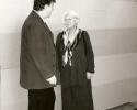 Andreas Spörri im Gespräch mit Frau Nuria Schönberg-Nono im Arnold Schönberg Center, Wien