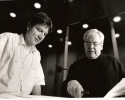 Komponist George Gruntz schreibt im Auftrag von Dirigent Andreas Spörri\'s «Colors of Switzerland» für die Swiss Symphonic Brass.