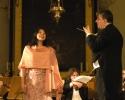 Die Solistin Noëmi Nadelmann mit Dirigent Andreas Spörri